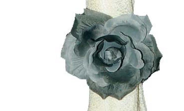 קליפס פרח משי (זוג)